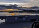 sunrise on the ferry